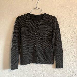 🌴 Ann Taylor grey polka dot sweater